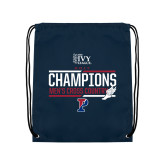 Navy Drawstring Backpack-2017 Mens Cross Country Ivy League Champions