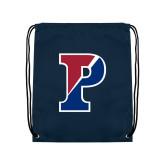 Navy Drawstring Backpack-Split P
