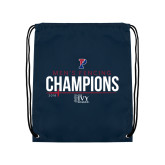 Navy Drawstring Backpack-2018 Mens Fencing Ivy League Champions