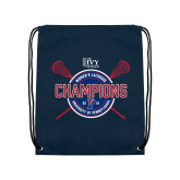 Navy Drawstring Backpack-2018 Womens Lacrosse Championship