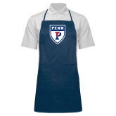 Full Length Navy Apron-PENN Shield