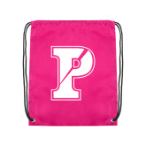 Pink Drawstring Backpack-Split P