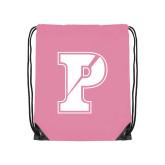 Light Pink Drawstring Backpack-Split P