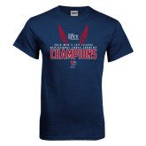 Navy T Shirt-2016 Mens Ivy League Heptagonal Cross Country Champions