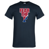 Navy T Shirt-Fear The P