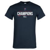 Navy T Shirt-2018 Mens Fencing Ivy League Champions