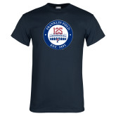 Navy T Shirt-Franklin Field 125 Logo