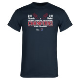 Navy T Shirt-2020 Womens Track & Field Champs