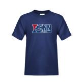 Youth Navy T Shirt-Penn Gymnastics
