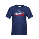 Youth Navy T Shirt-2017 Ivy League Mens Fencing Champions