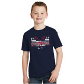 Youth Navy T Shirt-2020 Womens Track & Field Champs