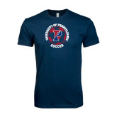 Next Level SoftStyle Navy T Shirt-Soccer Circle