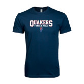 Next Level SoftStyle Navy T Shirt-Quakers Track & Field