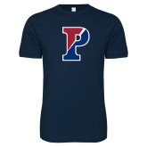 Next Level SoftStyle Navy T Shirt-Split P