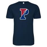 Next Level SoftStyle Navy T Shirt-Split P