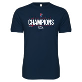 Next Level SoftStyle Navy T Shirt-2018 Mens Fencing Ivy League Champions