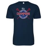 Next Level SoftStyle Navy T Shirt-2018 Womens Lacrosse Championship
