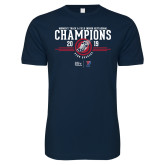 Next Level SoftStyle Navy T Shirt-2019 Womens Track and Field Champions