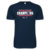 Next Level SoftStyle Navy T Shirt-2019 Womens RS Basketball Champions