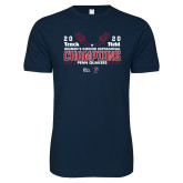 Next Level SoftStyle Navy T Shirt-2020 Womens Track & Field Champs
