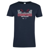 Ladies Navy T Shirt-2020 Womens Track & Field Champs