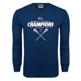Navy Long Sleeve T Shirt-2016 Ivy League Womens Lacrosse Champions