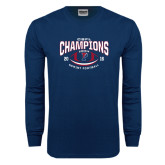 Navy Long Sleeve T Shirt-2016 CSFL Champions Sprint Football