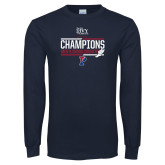 Navy Long Sleeve T Shirt-2017 Mens Cross Country Ivy League Champions