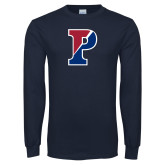 Navy Long Sleeve T Shirt-Split P