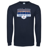 Navy Long Sleeve T Shirt-Franklin Field