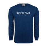 Navy Long Sleeve T Shirt-University of Pennsylvania