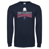 Navy Long Sleeve T Shirt-2018 Mens Basketball Regular Season Champions