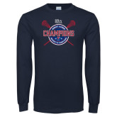 Navy Long Sleeve T Shirt-2018 Womens Lacrosse Championship