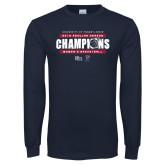 Navy Long Sleeve T Shirt-2019 Womens RS Basketball Champions