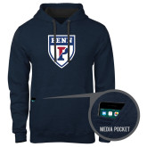 Contemporary Sofspun Navy Heather Hoodie-PENN Shield