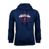 Navy Fleece Hood-Pennsylvania Basketball in Ball