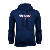 Navy Fleece Hood-Pennsylvania Football Stacked