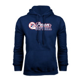 Navy Fleece Hood-Penn Softball Script
