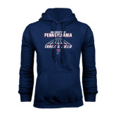 Navy Fleece Hood-Track & Field Lanes
