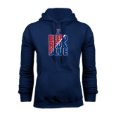 Navy Fleece Hood-Bleed Red & Blue