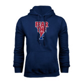Navy Fleece Hood-Fear The P