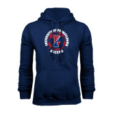 Navy Fleece Hood-Soccer Circle