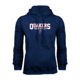 Navy Fleece Hood-Quakers Track & Field