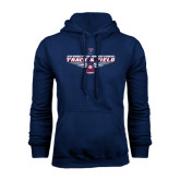 Navy Fleece Hood-Track & Field Front View Shoe