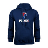 Navy Fleece Hood-P Penn Stacked