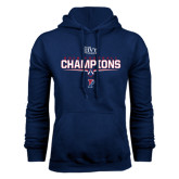Navy Fleece Hood-2016 Ivy League Football Champions