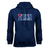 Navy Fleece Hood-Penn Track and Field
