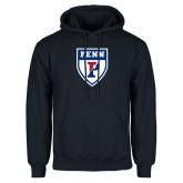 Navy Fleece Hoodie-PENN Shield