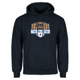 Navy Fleece Hoodie-The Palestra