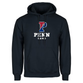 Navy Fleece Hoodie-Penn Band 2